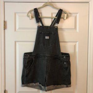 Pants - Levi's Gray Denim Shortalls